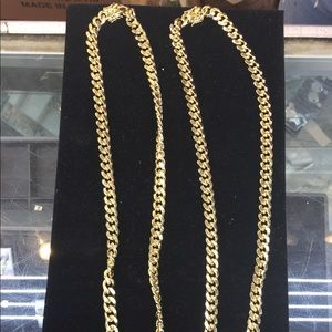 Other - 14K Gold Plated Cuban Chain Necklace 30""